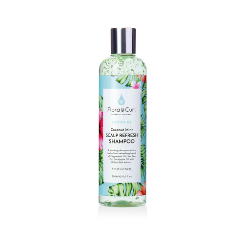 Flora & Curl Coconut Mint Scalp Refresh Shampoo