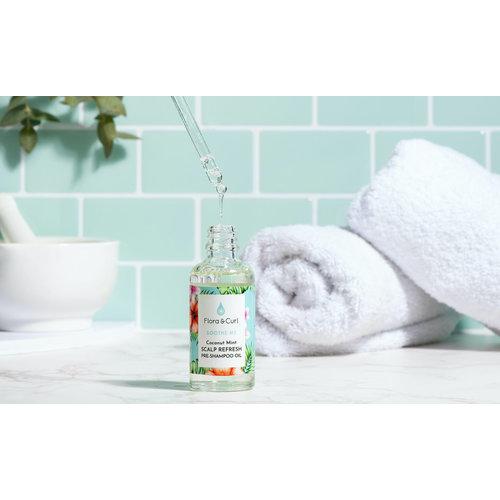 Flora & Curl Coconut Mint Scalp Refresh Pre-Shampoo Oil