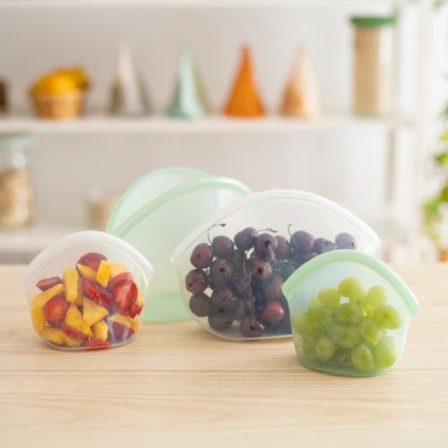 Food Huggers Herbruikbare Siliconen Zak 400ml - Juniper Clear