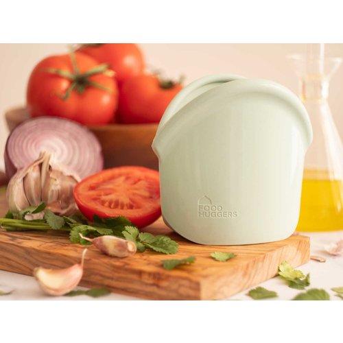 Food Huggers Herbruikbare Siliconen Zak 900ml - Jade Solid