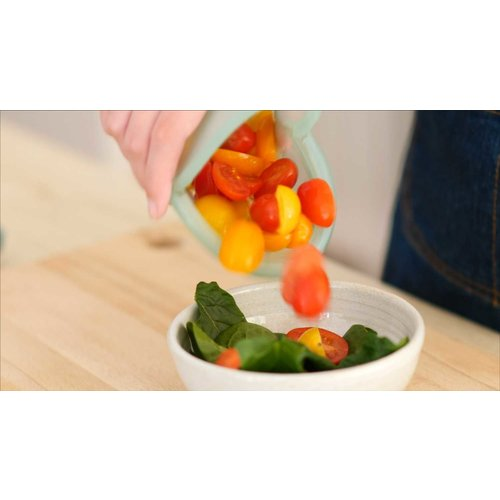 Food Huggers Herbruikbare Siliconen Zak 900ml - Champagne Frost
