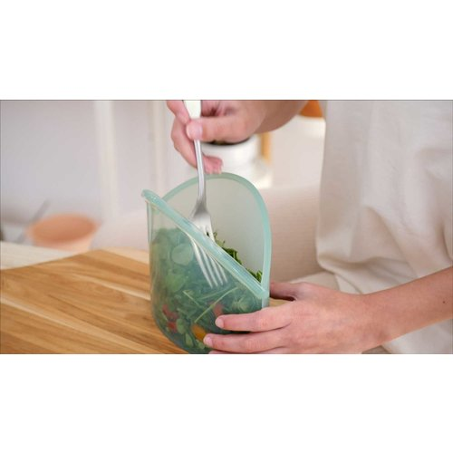 Food Huggers Reusable Silicone Bag 900ml - Champagne Frost