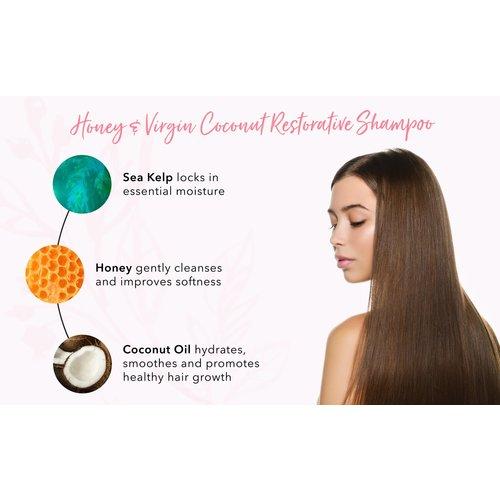 100% Pure Honey & Virgin Coconut Restorative Shampoo