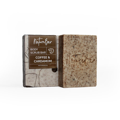 Nature Bar Koffie & Kardemom Scrub Zeep