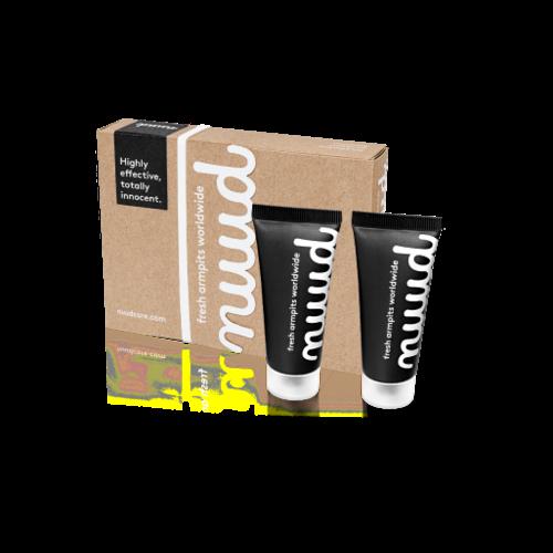 Nuud Deodorant Zonder Aluminium - Smarter Pack Black (2x 20ml)