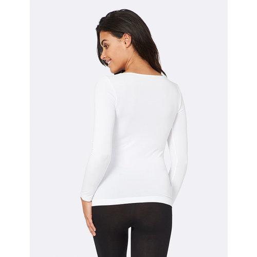 Boody Bamboe Long Sleeve Top - White