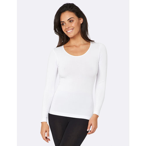 Boody Bamboe Long Sleeve Top - Wit