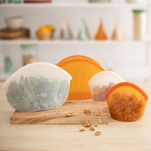 Food Huggers Reusable Silicone Bag 400ml - Clear