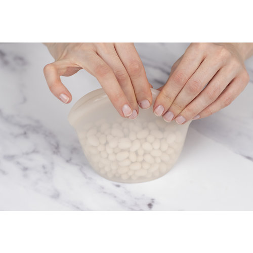 Food Huggers Herbruikbare Siliconen Zak 400ml - Amber