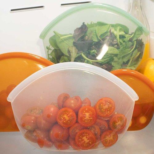 Food Huggers Reusable Silicone Bag 900ml - Amber
