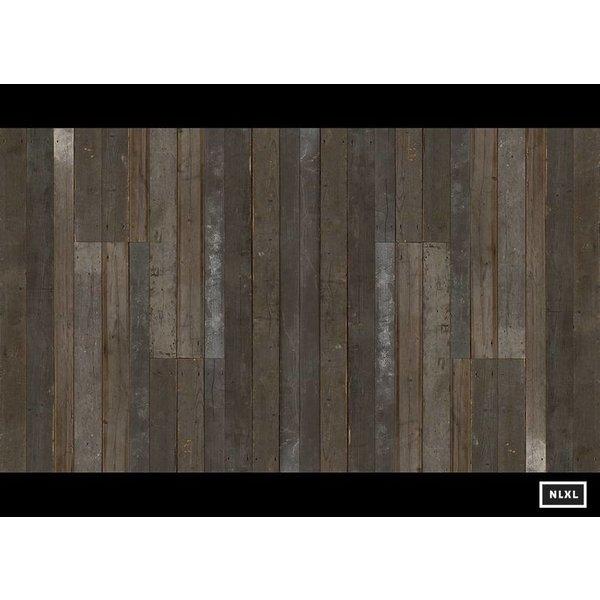 Behang Piet Hein Eek - sloophout donker grijs - bruin