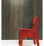 Piet-Hein-Eek Behang Piet Hein Eek - sloophout donker grijs - bruin Wallpaper