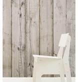 Piet-Hein-Eek brede planken vaal beige - grijs -wit PHE-07 Behang