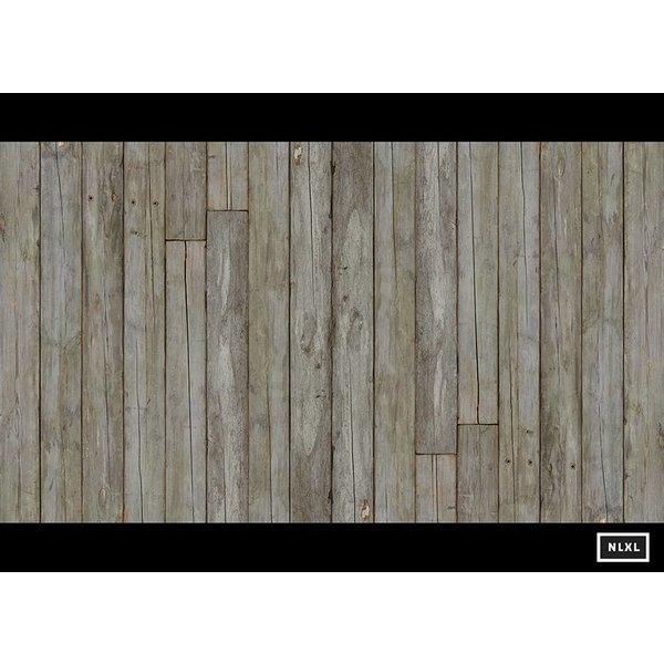 Behang Piet Hein Eek - verweerde planken bruin naturel wit