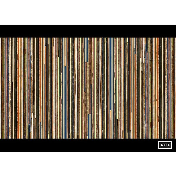 Behang Piet Hein Eek - smalle planken multi-colour
