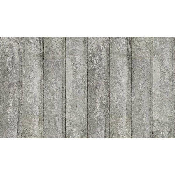 Behang Piet Boon - brede licht grijze platen beton