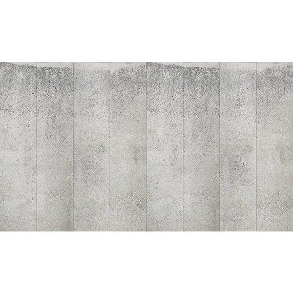 Behang Piet Boon - brede warm grijze platen beton