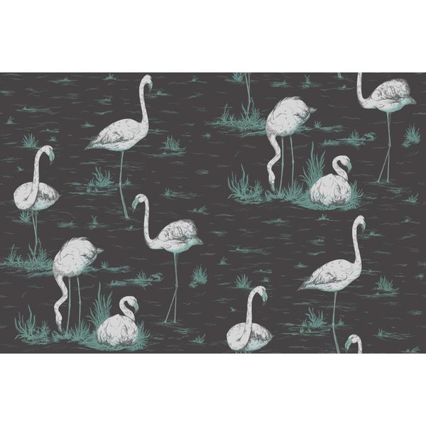 Flamingos DonkerGrijs 95/8048