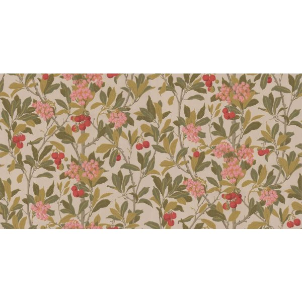 Strawberry Tree Pink, Linen (Roze, Beige) 100/10047