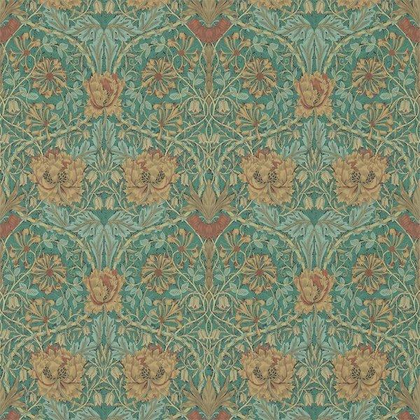 Honeysuckle & Tulip Emerald/Russet 214704