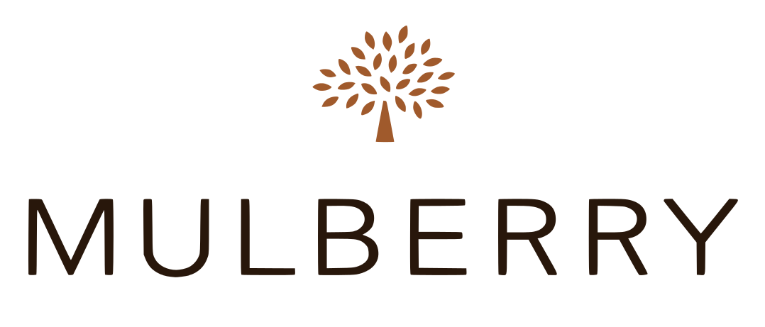 logo mulberry behang
