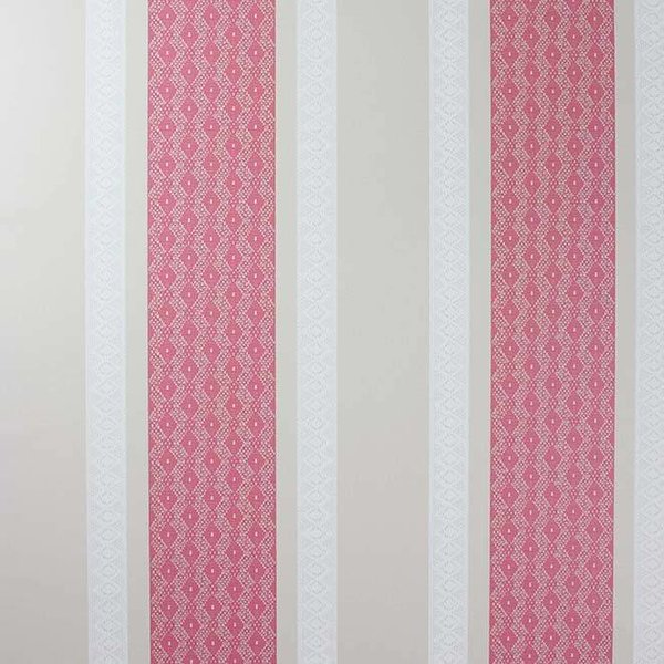 Chantilly Stripe Red/White/Linen W6595-05
