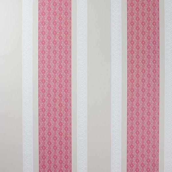 Chantilly Stripe Red/White/Linen
