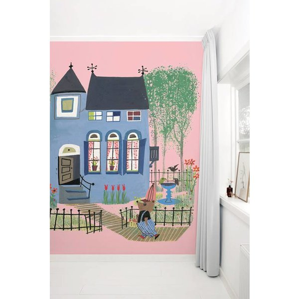 Bear with Blue House PINK WS-043