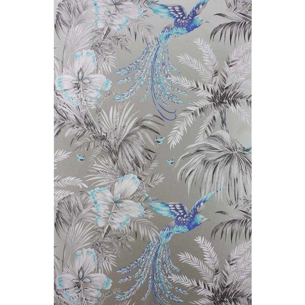 Bird of Paradise Turquoise/Grey W6655-06