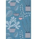 Miss-Print House Plants Wallpaper Blue Room MISP1175