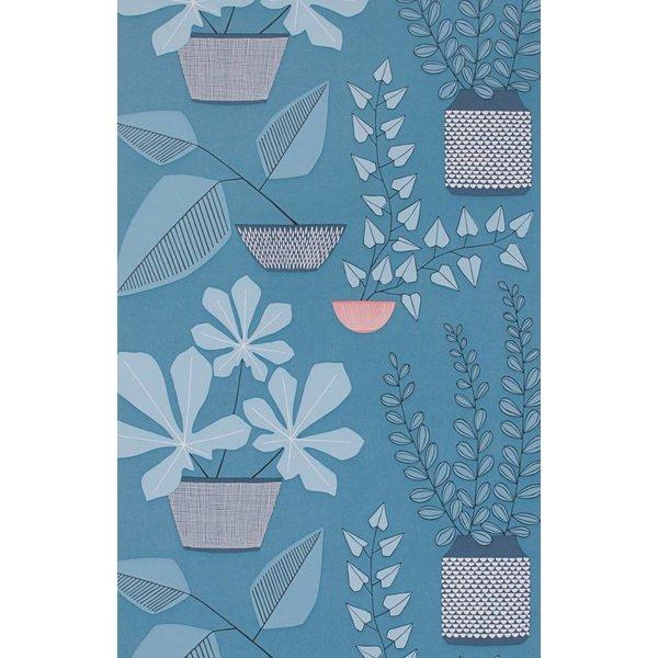 House Plants Wallpaper Blue Room MISP1175