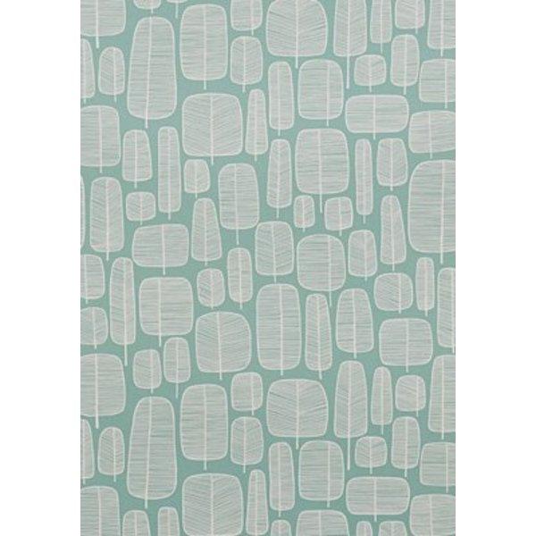 Little Trees Wallpaper Aquamarine MISP1045