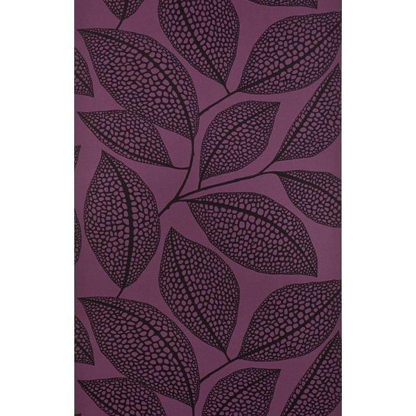Behang Pebble Leaf roze-paars MISP1042