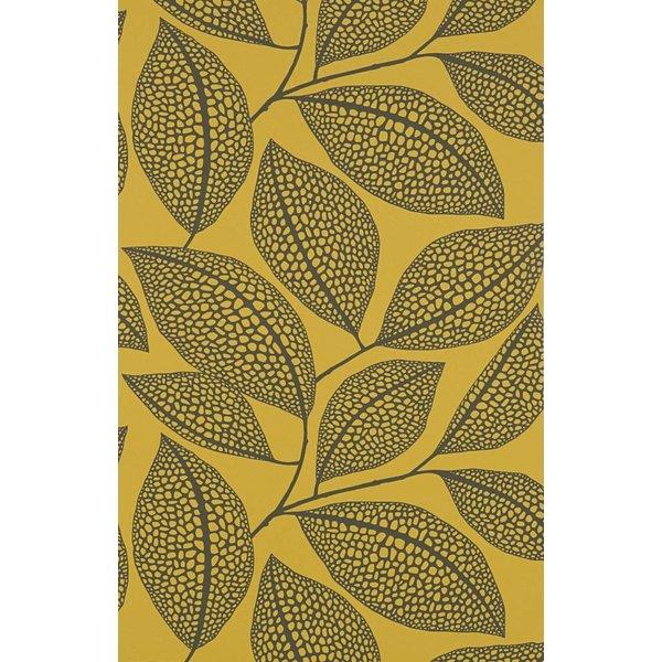 Behang Pebble Leaf geel MISP1041