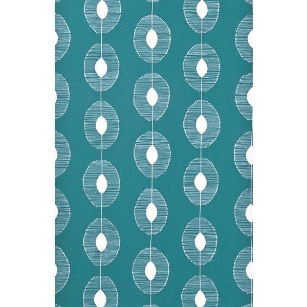 Behang Dewdrops turquoise MISP1088