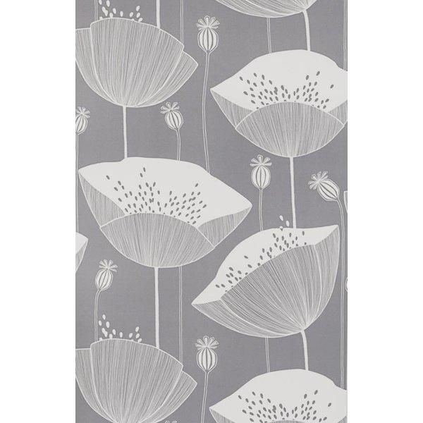 Behang Poppy grijs MISP1065