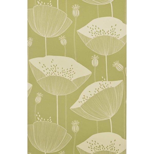 Behang Poppy groen MISP1064