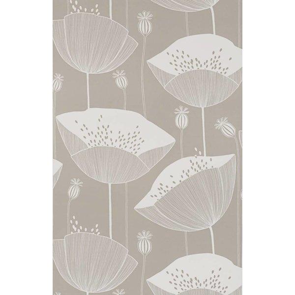 Behang Poppy grijsbeige MISP1067