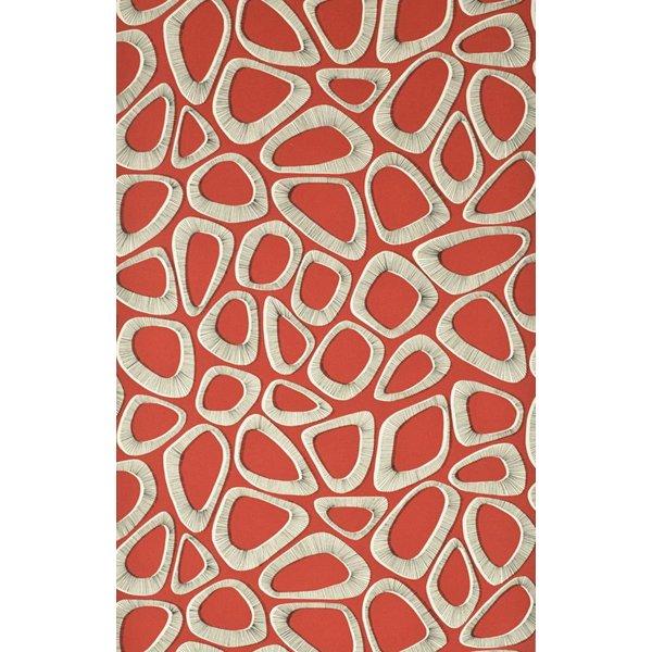 Behang Pebbles rood MISP1084