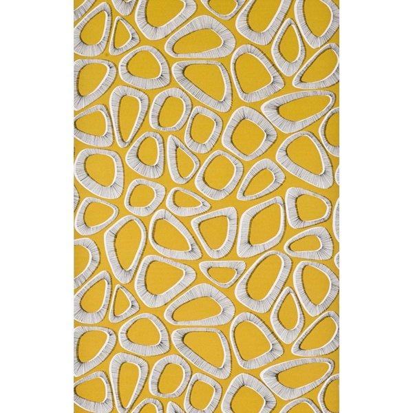 Behang Pebbles geel MISP1083