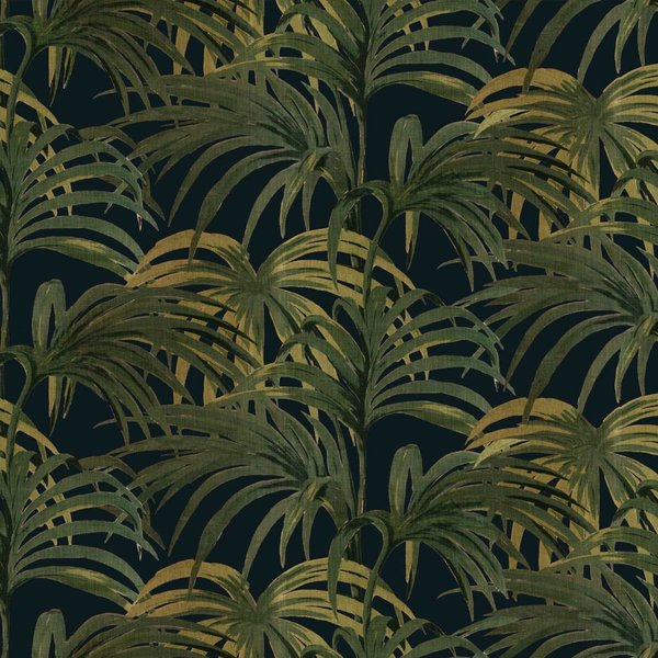 PALMERAL WALLPAPER MIDNIGHT / GREEN H403-4_N