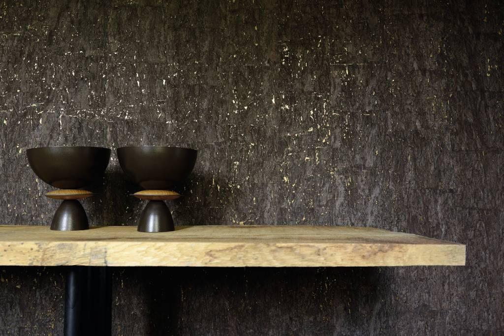 Kurk behang; eenvoud en luxe ineen