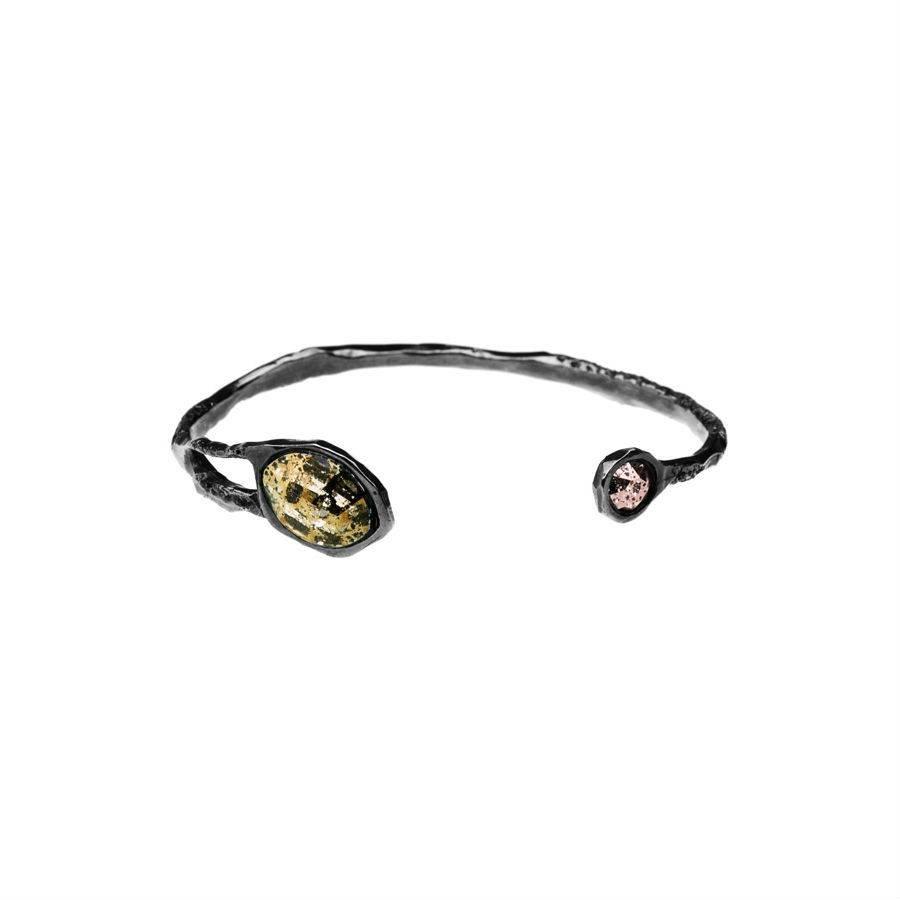 "Armband ""stardust"" M3347 met  Swarovski kristal  ""gold & rose patina""-1"
