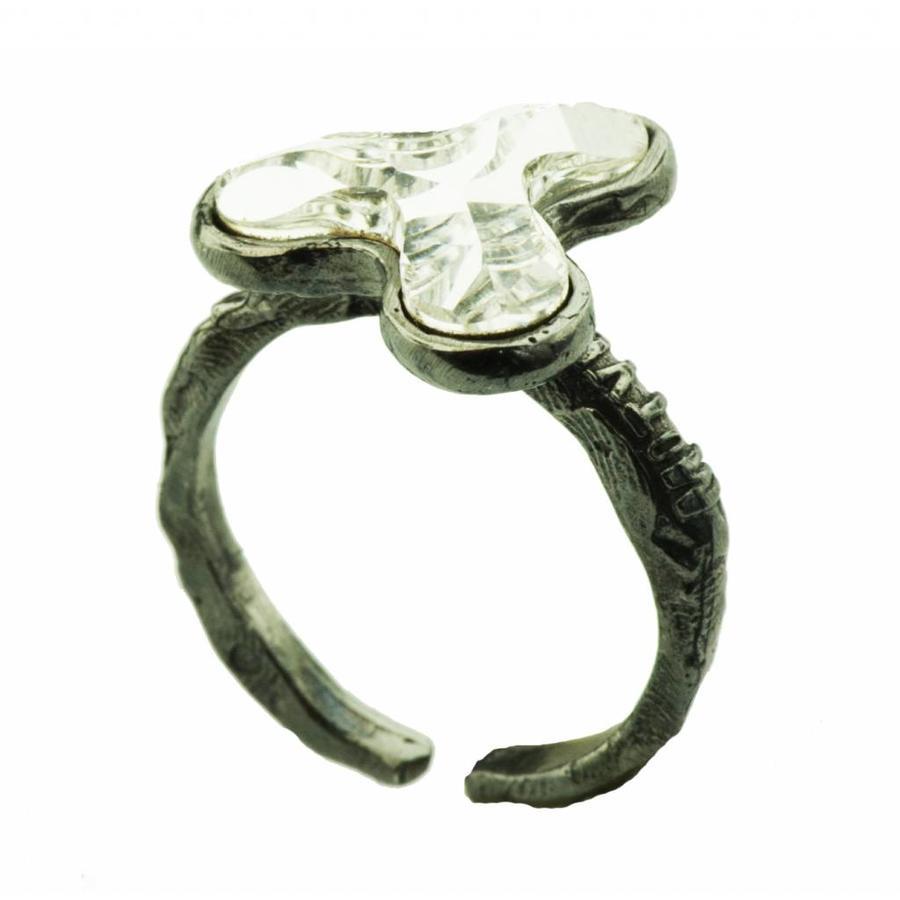 "Ring ""art deco"" M5501 Crystal-1"