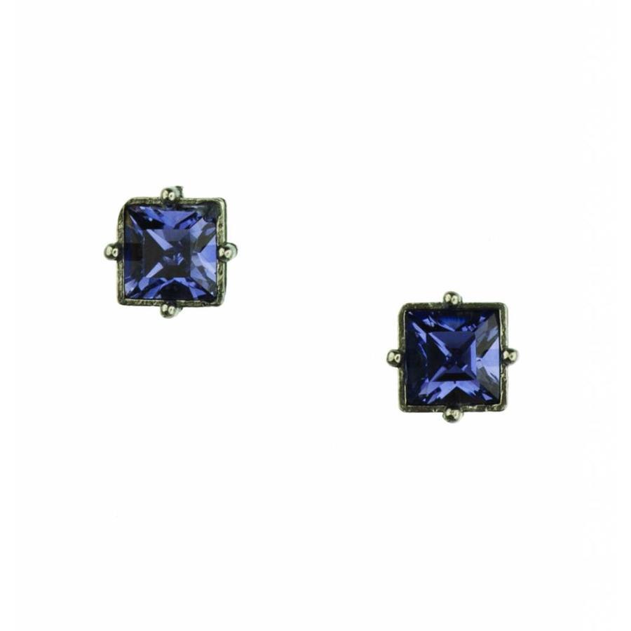 """Oorbellen """"art deco"""" M4483 Tanzanite-1"""