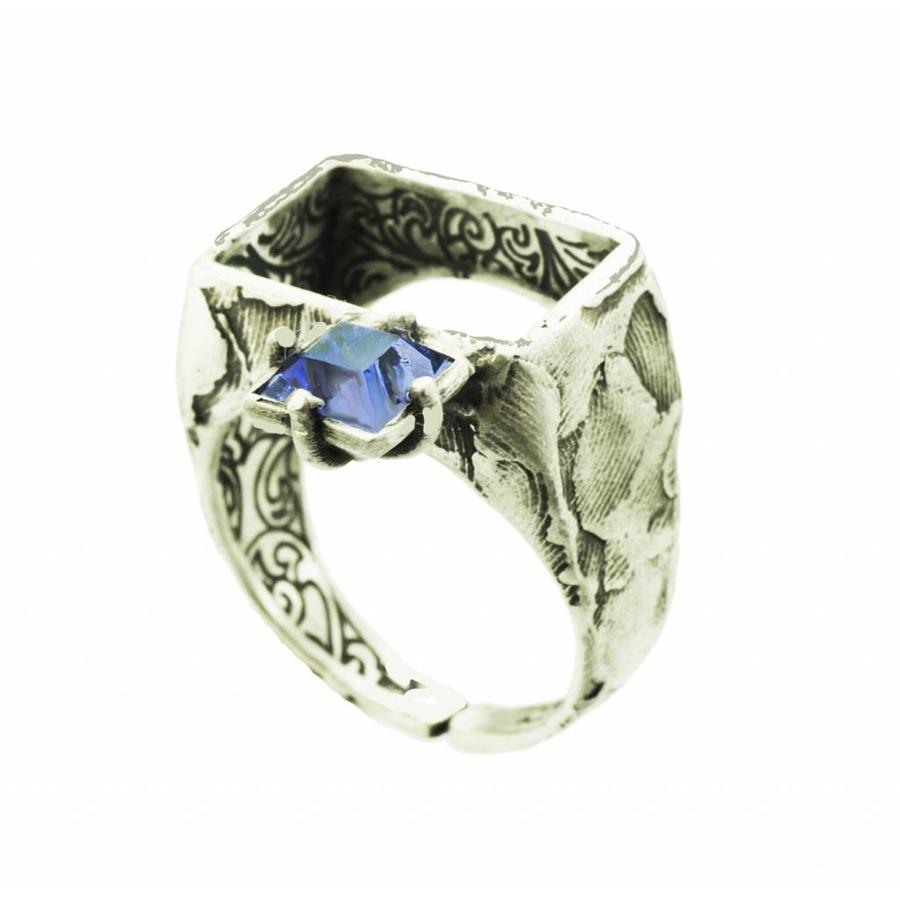 """Ring """"art deco"""" M5482 - Antique Tanzanite-1"""
