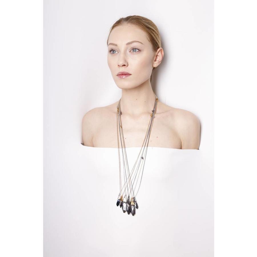 "Ketting ""art deco"" M2460 Swarovski kristal  by Jean Paul Gaultier-2"