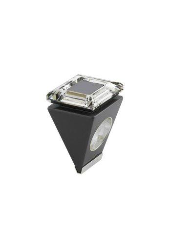 Ostrowski Design Big Ring vierkant grijs-zilver