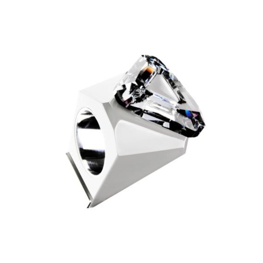 Big Ring driehoek wit -zilver-1