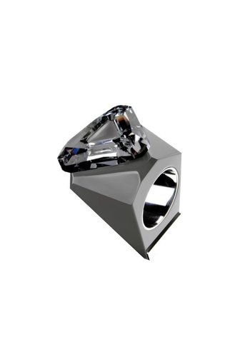 Ostrowski Design Big Ring driehoek grijs -zilver
